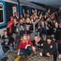 Punkový koncert ve vlaku podpořil dobrou věc